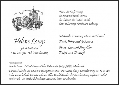 Helene Laugs, 2019-11-26